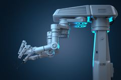 Robot surgery machine Royalty Free Stock Photography