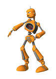 3D Rendering Robot on White. 3D rendering of a robot isolated on white background Stock Photography