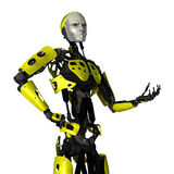 3D Rendering Robot on White Royalty Free Stock Image