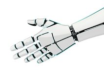 3D rendering robotic hand on a white background. 3D rendering robotic hand isolated on white background Royalty Free Stock Photography