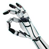 3D rendering robotic hand on a white background. 3D rendering robotic hand isolated on white background Royalty Free Stock Images