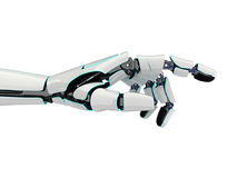 3D rendering robotic hand on a white background. 3D rendering robotic hand isolated on white background Stock Photos