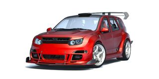 3D rendering - rodzajowy pojęcie samochód Obraz Stock