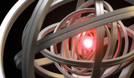3D Rendering Of Rotating Rings Sphere Royalty Free Stock Photo