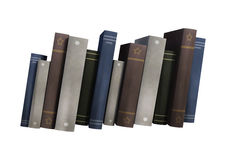 3D Rendering Row of Books on White. 3D rendering of a row of books isolated on white background Royalty Free Stock Photos