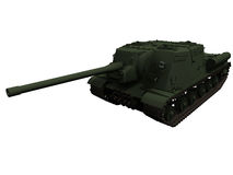3d Rendering of a Russian J122 Tank Stock Images