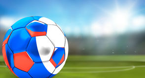 3d rendering of russian soccer ball. football ball of Russia Stock Photos