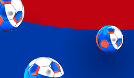 3d rendering of russian soccer balls. football balls of Russia Royalty Free Stock Image
