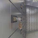 3D rendering safe deposit boxes Stock Photo