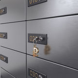 3D rendering safe deposit boxes Stock Photos