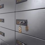 3D rendering safe deposit boxes Royalty Free Stock Photo