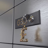3D rendering safe deposit boxes Stock Images