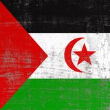 Scratched Sahrawi Arab Democratic Republic flag. 3d rendering of Sahrawi Arab Democratic Republic flag in a scratched surface Royalty Free Stock Photography