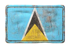 Old Saint Lucia flag Royalty Free Stock Photo