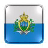 San Marino flag icon. 3d rendering of a San Marino flag icon. Isolated on white background Stock Images