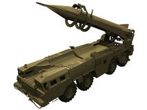 3d Rendering of a SCUD Missile launcher. 3d Rendering of a Soviet/Russian SCUD Missile Launcher Stock Images