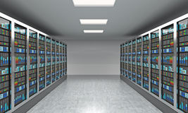3D rendering of server for data storage, processing and analysis Royalty Free Stock Photos