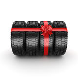 3D rendering set of tires Stock Images