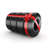 3D rendering set of tires Stock Photography