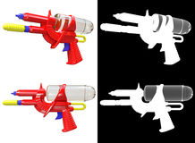 3D rendering a set of Water gun  on white background Stock Photo
