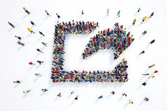 3D rendering of share people Stock Photos