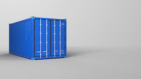 3d rendering of a shipping container Stock Image