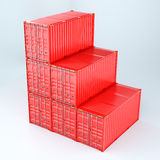 3d rendering of a shipping 20ft containers Stock Image