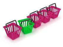 3D rendering of a shopping baskets Stock Image