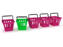 3D rendering of a shopping baskets Royalty Free Stock Photos