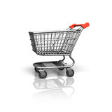 3D rendering shopping cart side view Stock Photos
