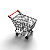 3D rendering shopping cart top view Stock Images