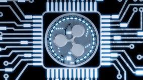 Silver Ripple digital currency, futuristic digital money, technology worldwide network concept. 3D Rendering. Silver Ripple digital currency, futuristic digital Royalty Free Stock Photo