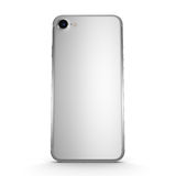 3D rendering silver smartphone in iPhone stule with black screen Royalty Free Stock Images