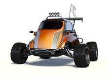 3D rendering  - Small concept ATV. 3D rendering of a brand-less generic concept car in studio environment. Small concept ATV Royalty Free Stock Photos