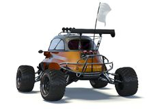 3D rendering  - Small concept ATV. 3D rendering of a brand-less generic concept car in studio environment. Small concept ATV Stock Photography