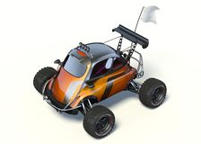3D rendering  - Small concept ATV. 3D rendering of a brand-less generic concept car in studio environment. Small concept ATV Royalty Free Stock Photography