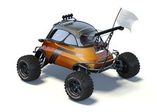 3D rendering  - Small concept AT. 3D rendering of a brand-less generic concept car in studio environment. Small concept ATV Royalty Free Stock Images