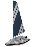 3d rendering of a small sailboat Stock Image