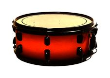 3D Rendering Snare Drum on White. 3D rendering of a snare drum isolated on white background Royalty Free Stock Image