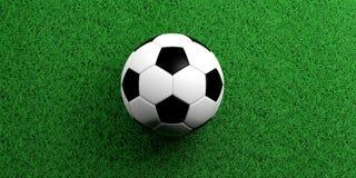 3d rendering soccer ball on grass background. 3d rendering soccerball on grass Stock Photos