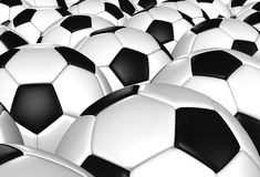 3d rendering of a soccer ball. ( Leather texture ) Royalty Free Stock Photo