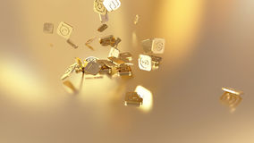 3d rendering social networking icons Royalty Free Stock Image