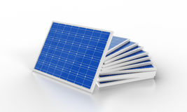 3d rendering solar panels stack Stock Image