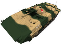 3d Rendering of a Soviet BMP-1. 3d Rendering of a Soviet amphibious tracked infantry fighting vehicleBMP-1 Royalty Free Stock Photo