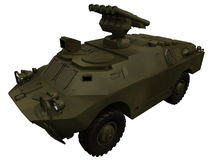 3d Rendering of a Soviet BRDM3 with Anti Aircraft Rockets Stock Image