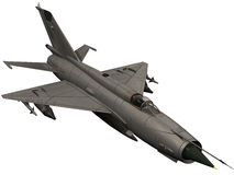 3d Rendering of a Soviet Mig 21 Fishbed Royalty Free Stock Photography