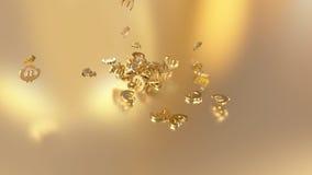 3d rendering spada znaki euro Opcja w białego złota stylu Zdjęcia Royalty Free