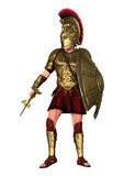 3D Rendering Spartan Warrior on White Royalty Free Stock Images
