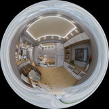 3d rendering spherical 360 degrees, seamless panorama of  living Stock Photography