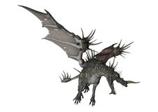 3D Rendering Spiky Dragon on White Stock Image